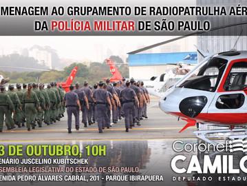 CONVITE: Homenagem ao Grupamento Aéreo da Polícia Militar de São Paulo