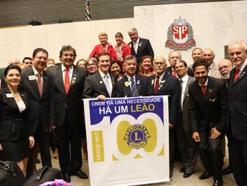 Lions é homenageado pelo Dep. Coronel Camilo pelo trabalho em prol do cidadão