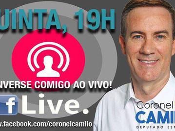 Participe: transmissão ao vivo no Facebook!