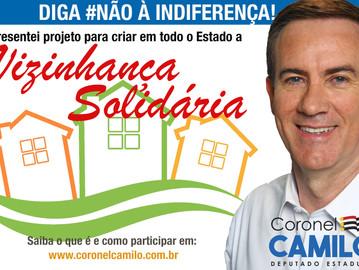 Novo projeto! Coronel Camilo quer consolidar programa Vizinhança Solidária