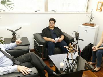 Alunos da FMU entrevistam Coronel Camilo sobre Programa Vizinhança Solidária