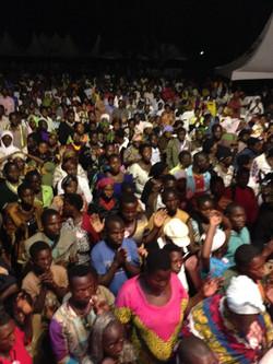 Massive crowd Uganda Cape to Cairo Nov 2