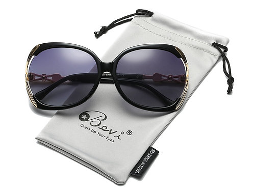 Bevi Polarized Metal Sunglasses, 100% UV Blocking & Bonus Cleaning Cloth