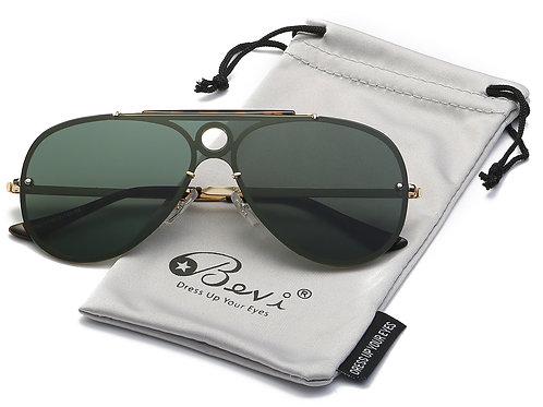 Bevi Polarized Aviator Sunglasses Fashion Design