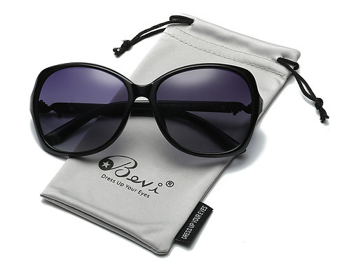 Bevi Polarized Fashion Sunglasses, 100% UV Blocking & Bonus Cleaning
