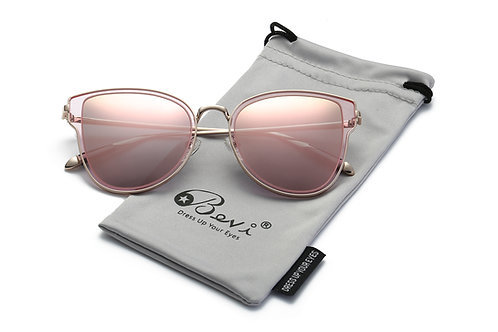 Cat Eye Mirrored Reflective Lenses Oversized Cateyes Sunglasses