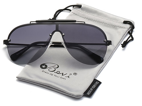 Bevi Polarized Aviator Sunglasses Fashion Brand Designer Driving Sunglasses