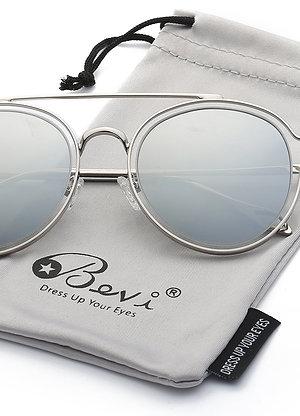Bevi Polarized Aviator Unisex Sunglasses - UV 400 Protection