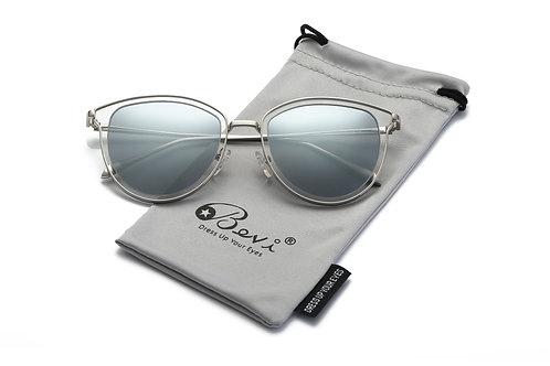 Bevi Polarized Cat Eye Polycarbonate Metal Sunglasses