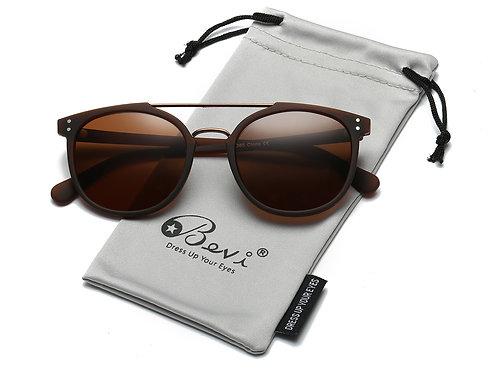 Bevi Polarized Aviator Sunglasses Retro Designer Style