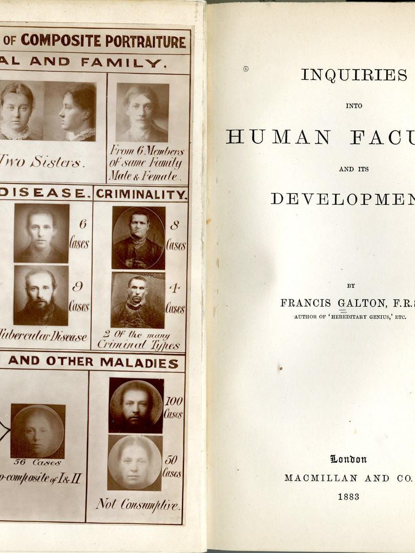 """Frontispiece of Francis Galton's """"Inquiries Into Human Faculty and its Development"""""""