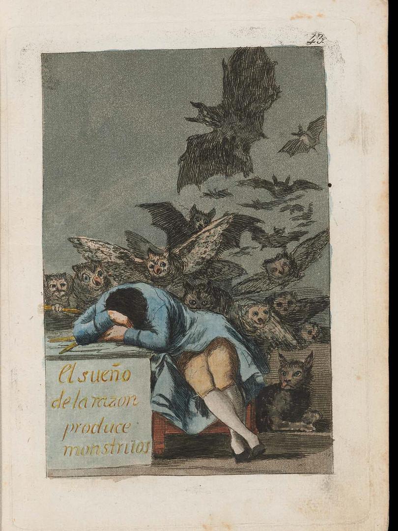 "Francisco Goya. ""The Sleep of Reason Produces Monsters"""
