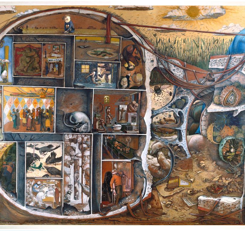 """William Kurelek. """"The Maze"""""""