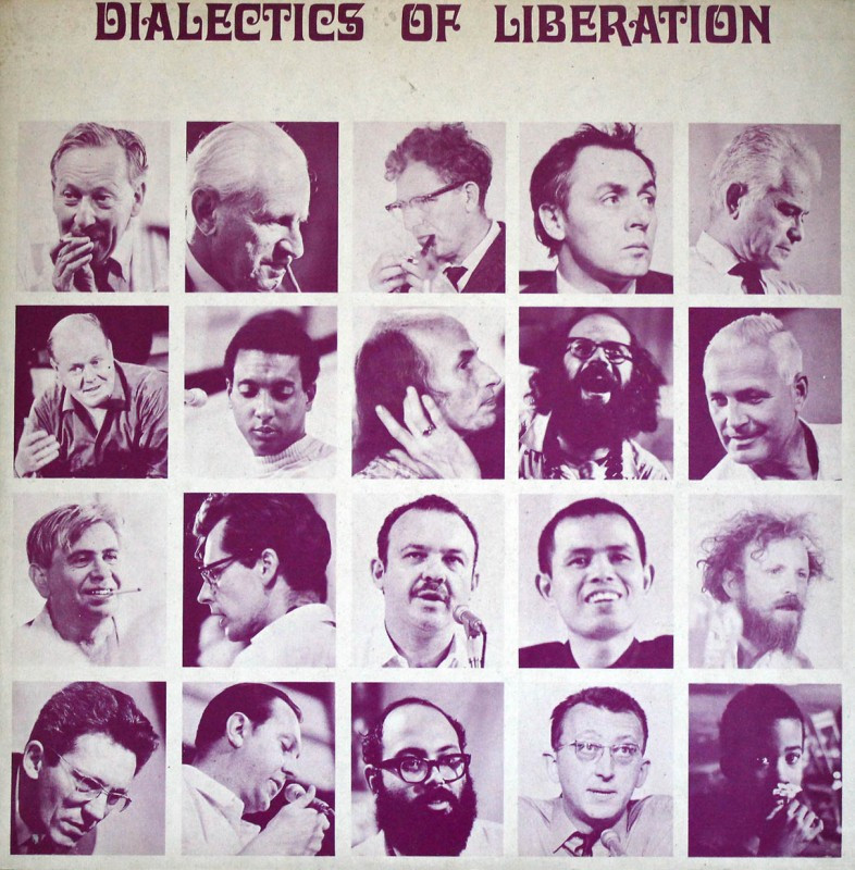 A vinyl LP cover showing speakers at the Dialectics of Liberation Congress, including Laing, Cooper, Ture, and Marcuse