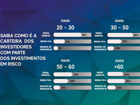 SAIBA COMO É A CARTEIRA  DOS INVESTIDORES COM PARTE DOS INVESTIMENTOS EM RISCO