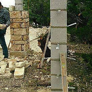 Brick and Stone Columns