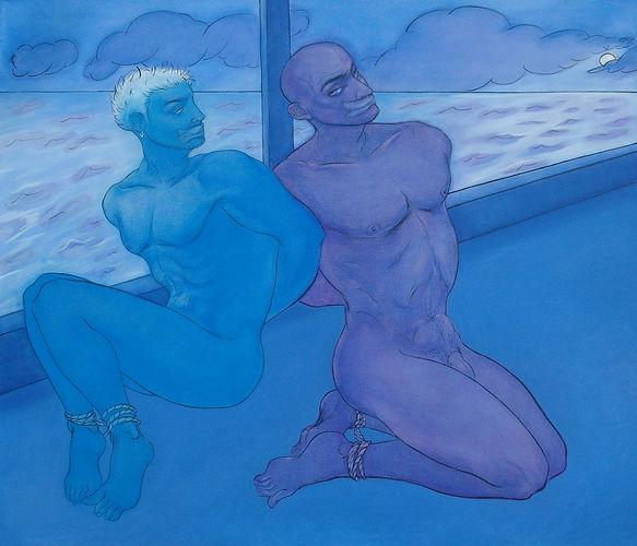02_RG_Rocío García_El Thriller Series_ Like the last blues_Triptych(2)_2006_Oil on canva