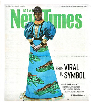 Cover of Miami New Times featuring the work of Harold García V.