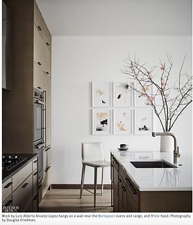 Screen Shot from Interior Design's website featuring the work of Luis Alberto Álvarez López.