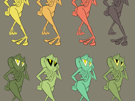Frog color templates