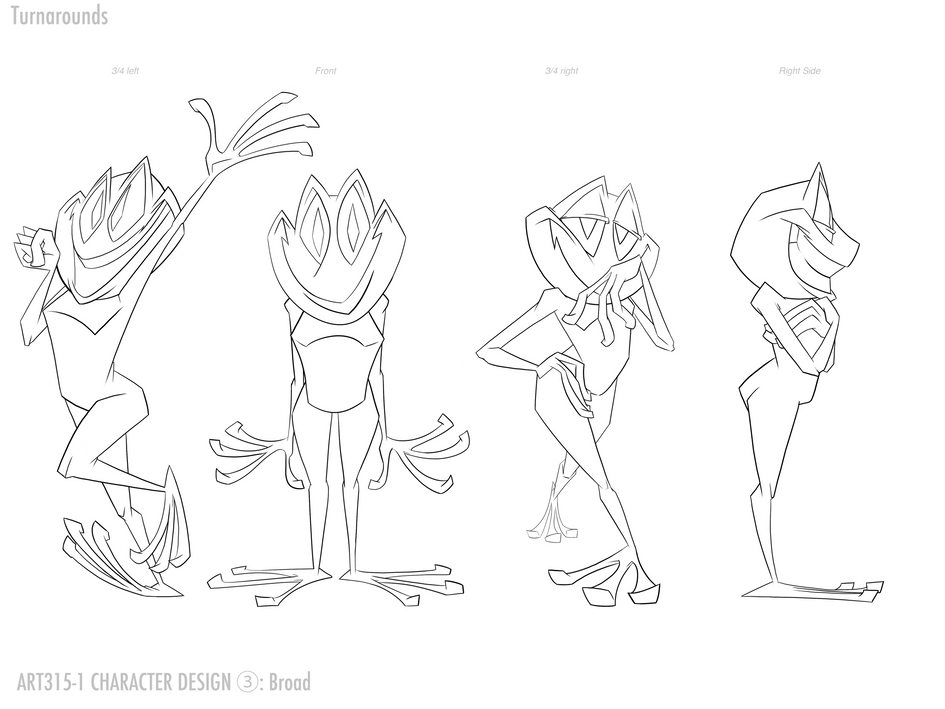 Frog character poses