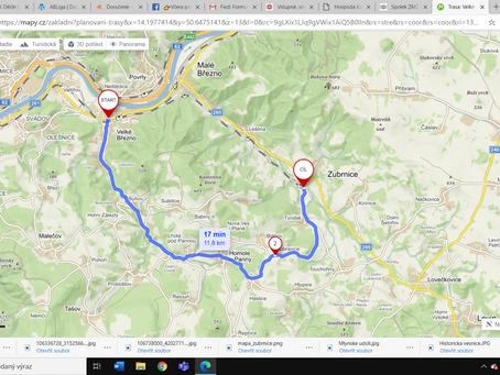 Dopravní uzavírka směr Zubrnice