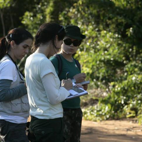 Equipe Pró-Tapir em campo