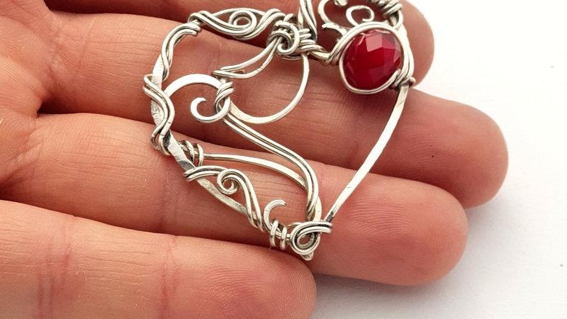 Silber Herzanhänge