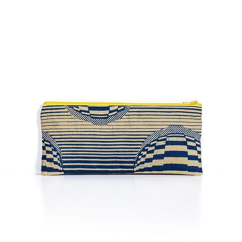 Navy Stripes African print essentials pouch organizer