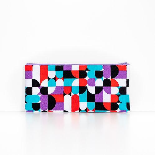 Slices African print zipper pouch purse organizer