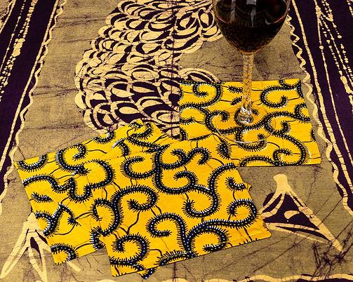 Shop African print ankara fabric cocktail napkins
