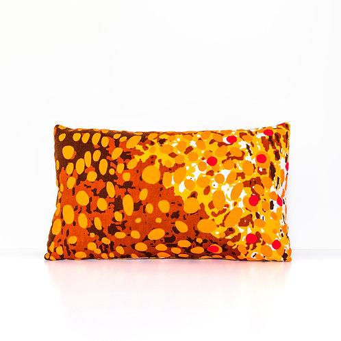 Dots orange African print decorative pillow cover