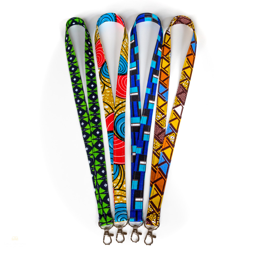 Colorful African print lanyards
