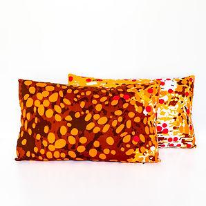 Orange and brown Dots African print anka
