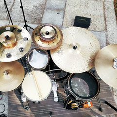 Live in while with _those2andi •••_#drum