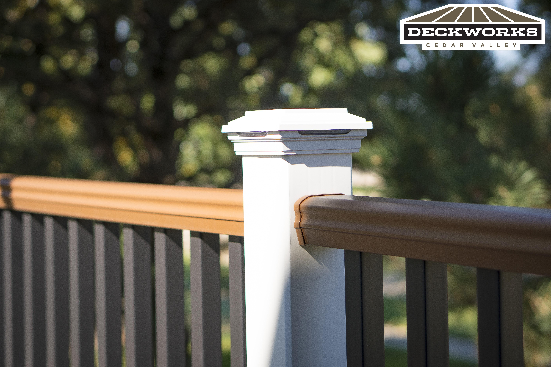 Trex Lava Rock Deck & deck lighting