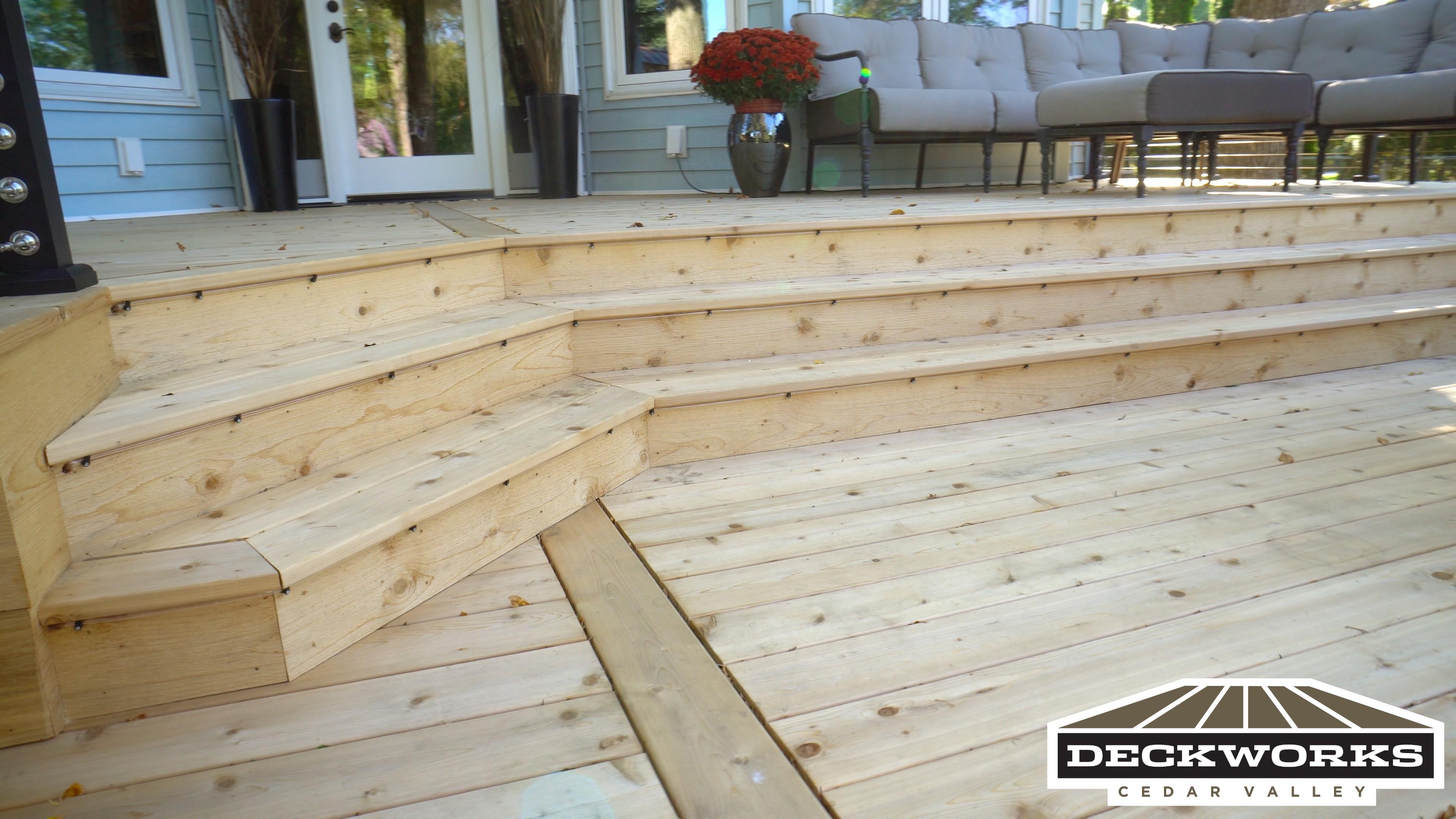 Cedar Deck with cable rail