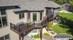 Custom Trex deck and screen porch