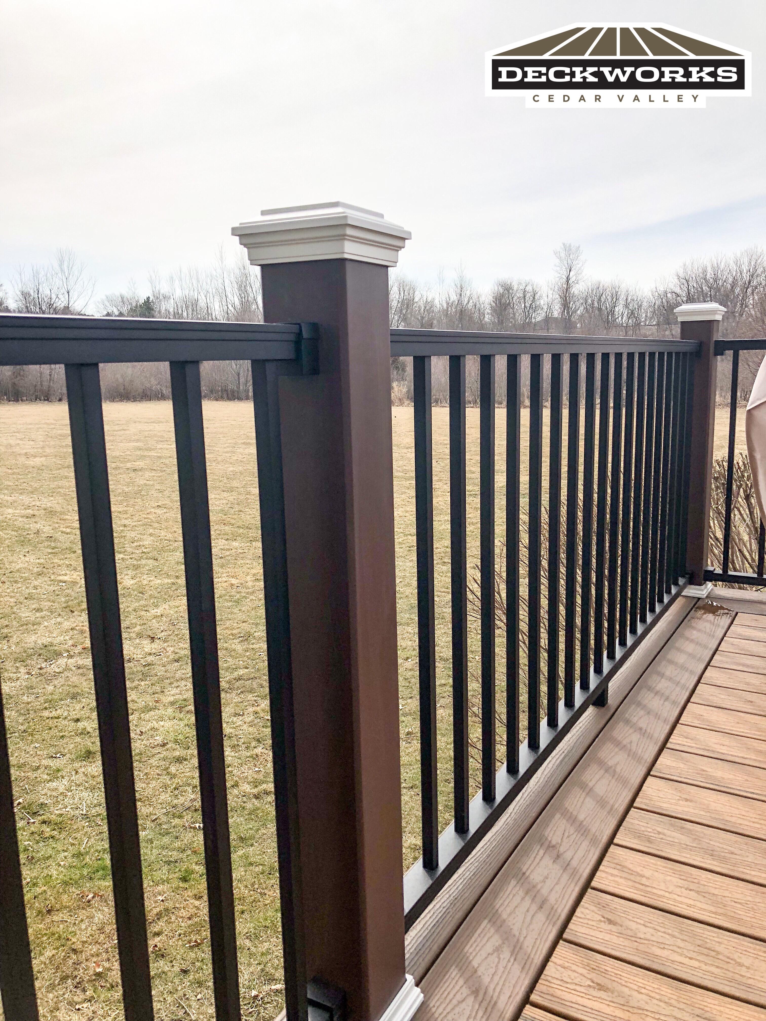 Trex railing Cedar Falls