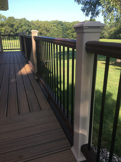 Trex deck with under deck dry space