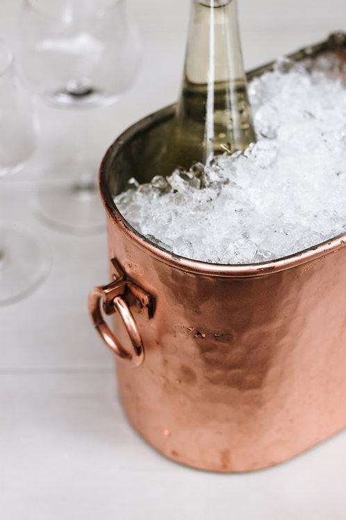 Oval Bakır Şarap Kovası