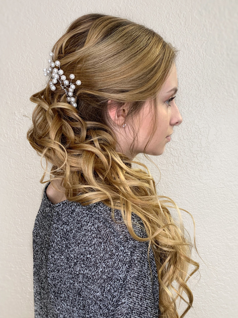 Bridal updo logn hair