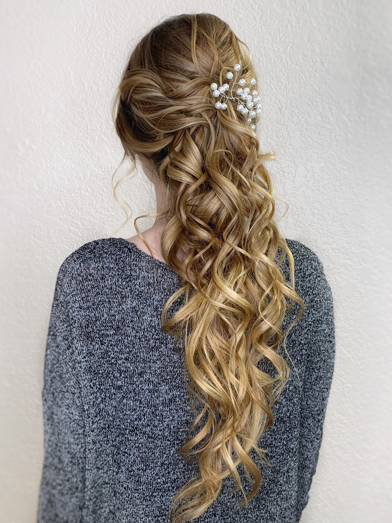Bridal Updo long hair