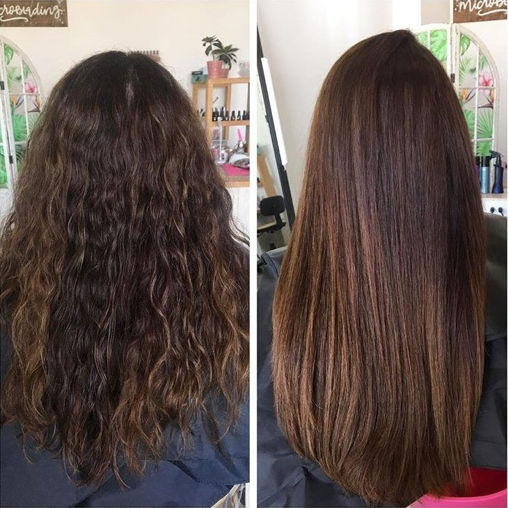 Before and after Brazilian Blowout