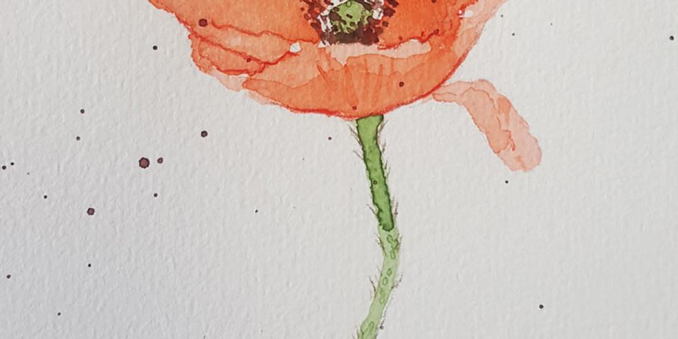 Workshop: Aquarellmalerei Blumen
