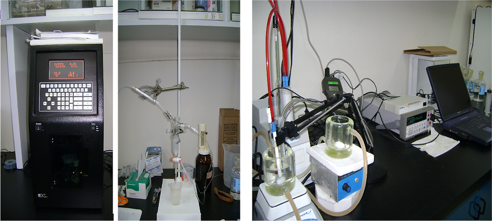 Benchtop DIC and TA analysers used for OA research