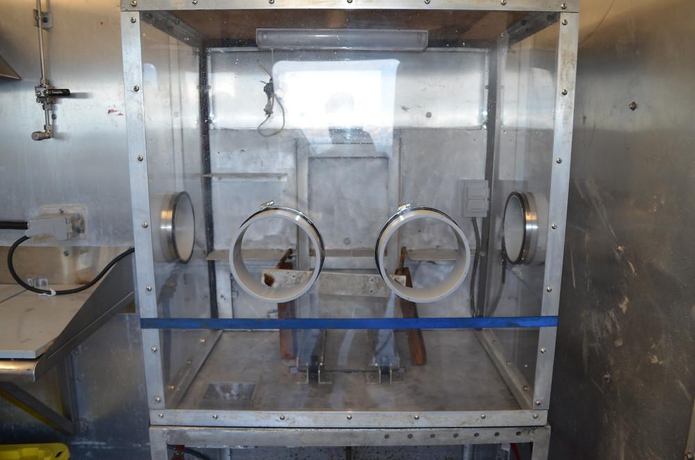 Image of a glove box chamber