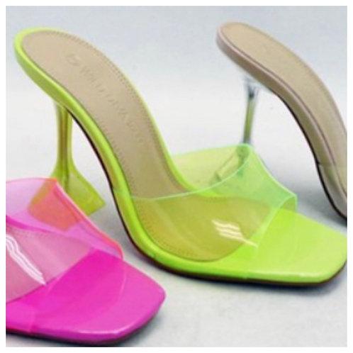 Neon yellow -heel