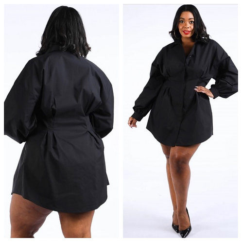 Trench Button down -plus dress