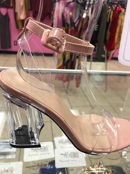 Milly -nude clear heels